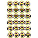 Kurabiye ve Cupcake Resmi 4x4 cm Ebat 24 lü Fenerbahçe