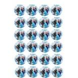 Kurabiye ve Cupcake Resmi 4x4 cm Ebat 24 lü Frozen