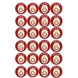 Kurabiye ve Cupcake Resmi 4x4 cm Ebat 24 lü Galatasaray