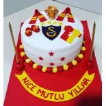Şeker Hamurlu Pasta Galatasaray Temalı 10 Kişilik
