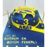 Şeker Hamurlu Pasta Fenerbahçe Temalı 10 Kişilik