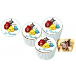 Angry Birds Cupcake Resimli Yenilebilir 10 Adet