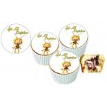 Arı Maya Cupcake Resimli Yenilebilir 10 Adet