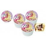Barbi Cupcake Resimli Yenilebilir 10 Adet