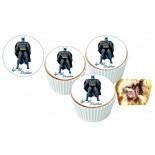 Batman Cupcake Resimli Yenilebilir 10 Adet