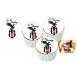 Beşiktaş Cupcake Resimli Yenilebilir 10 Adet