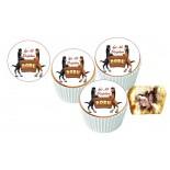 Doru Cupcake Resimli Yenilebilir 10 Adet