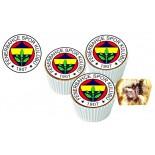 Fenerbahçe Cupcake Resimli Yenilebilir 10 Adet