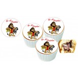 Galatasaray Espirili Cupcake Resimli Yenilebilir 10 Adet