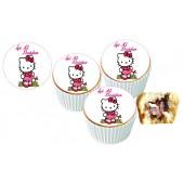 Hellokity  Cupcake Resimli Yenilebilir 10 Adet