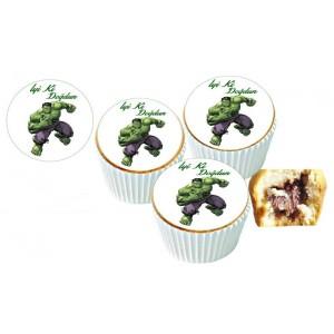 Hulk Cupcake Resimli Yenilebilir 10 Adet