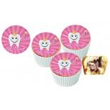 İlk Dişim  Cupcake Resimli Yenilebilir 10 Adet