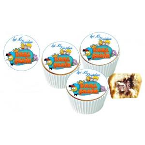 Kral Şakir Cupcake Resimli Yenilebilir 10 Adet