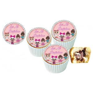 Lol Cupcake Resimli Yenilebilir 10 Adet