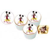 Micky Mause Cupcake Resimli Yenilebilir 10 Adet