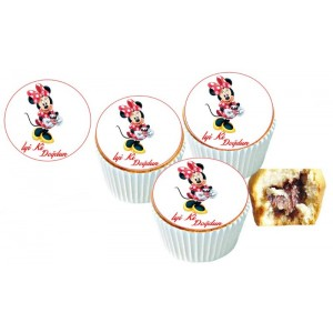 Mini Mause Cupcake Resimli Yenilebilir 10 Adet