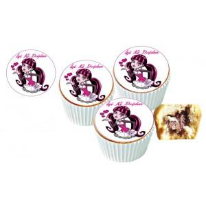 Monsterhight Cupcake Resimli Yenilebilir 10 Adet