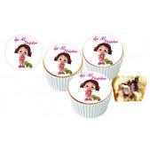Niloya Cupcake Resimli Yenilebilir 10 Adet