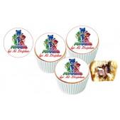 Pijamaskeliler Cupcake Resimli Yenilebilir 10 Adet