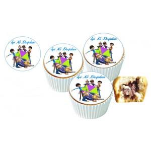 Rafadan Tayfa Cupcake Resimli Yenilebilir 10 Adet
