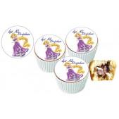 Rapunzel  Cupcake Resimli Yenilebilir 10 Adet