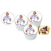 Sofia Cupcake Resimli Yenilebilir 10 Adet