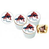 Spiderman Cupcake Resimli Yenilebilir 10 Adet