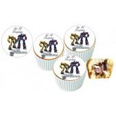 Transformers Cupcake Resimli Yenilebilir 10 Adet
