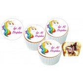 Unicorn Cupcake Resimli Yenilebilir 10 Adet