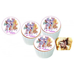 Winks Cupcake Resimli Yenilebilir 10 Adet