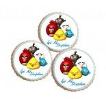 Şeker Hamurlu Resimli Angry Birds Yenilebilir Kurabiye