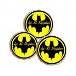 Şeker Hamurlu Resimli Batman Logolu Yenilebilir Kurabiye