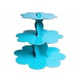 Mavi  Renk Puantiyeli Muffin Standı