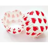 Cupcake Kağıdı 20'li Kalıp Gerektirmez 65x38 mm Kalp Desenli