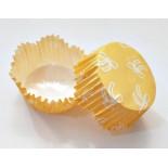 Cupcake Kağıdı 20'li Kalıp Gerektirmez 65x38 mm Sarı Fiyonk Desenli