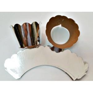 Cupcake Sargısı 7x3x4 cm Ebattaki Tüm Keklere Uygundur Gümüş 10 lu