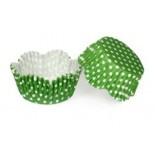 Cupcake Kağıdı 20'li Kalıp Gerektirmez 65x38 mm Yeşil Puantiye Desenli