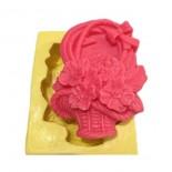 Çiçek Sepeti  Kokulu Taş Sabun Kalıbı Silikon