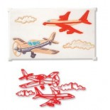 Uçak Modelli Pecwork Baskı Deseni