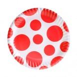 Parti Tabak Kırmızı Puanlı Karton 8 li