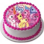 Pony Resimli Şantili Pasta 10 Kişilik