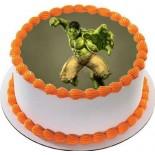 Hulk Resimli Şantili Pasta 10 Kişilik