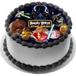 Angry Birds Starr Wors Resimli Şantili Pasta 10 Kişilik