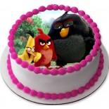 Angry Birds Resimli Şantili Pasta 10 Kişilik