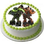 Transformers Resimli Şantili Pasta 10 Kişilik
