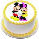 Mini Ve Micky Mause Resimli Şantili Pasta 10 Kişilik