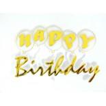Happy Birthday Pasta Üstü Süslemesi