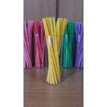 Kağıt Pipet Sarı Renk 25 Adet
