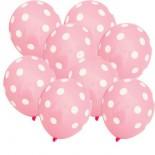 Pembe Puantiyeli Balon 5 Adet