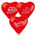 Seni Seviyorum Yazılı Balon 5 Adet